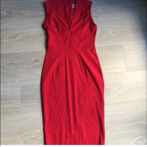 ASOS RED bodycon dress